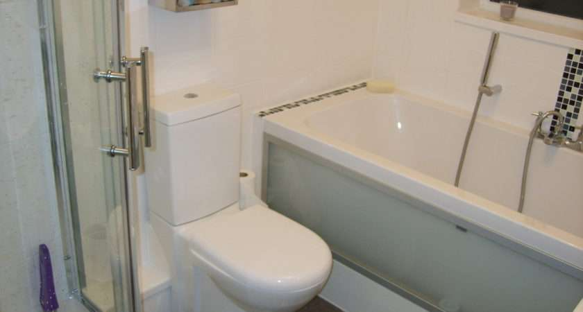 Shower Cubicle Double Ended Bath Frosted Glass Panel