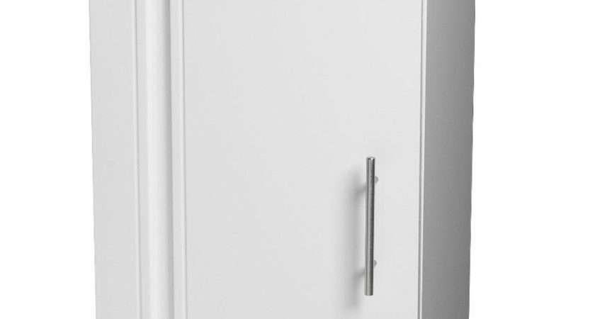 Showerdrape White Freestanding Wooden Bathroom Cabinet