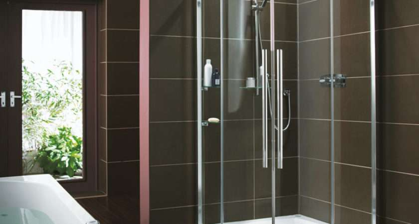 Showerlux Eden Round Shower Enclosure Door Recess