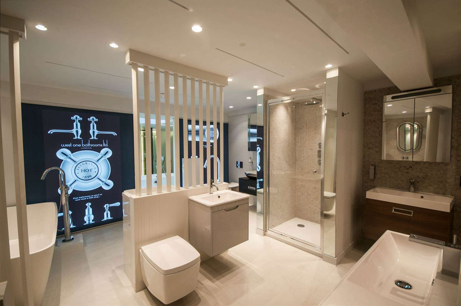 Showroom West One Bathrooms Quicklink Commercial Project