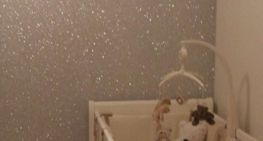 Silver Glitter Wall Paint Post Hash