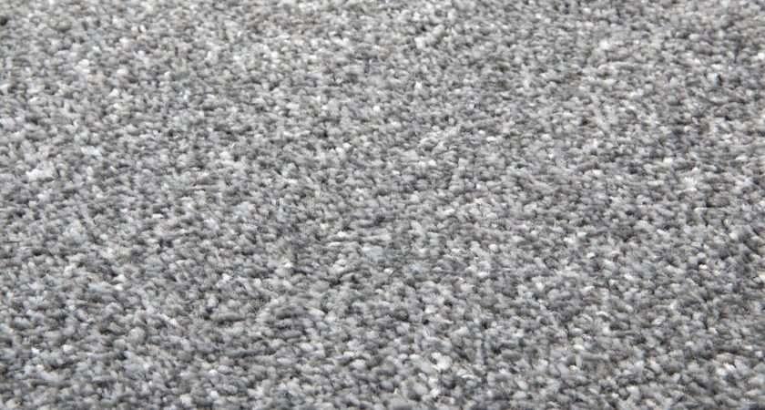 Silver Grey Saxony Super Deep Pile Carpet Stain