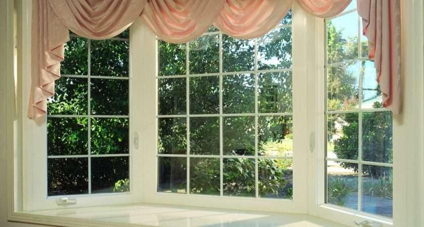 Simple Beautiful Bay Window Cute Pink Curtain