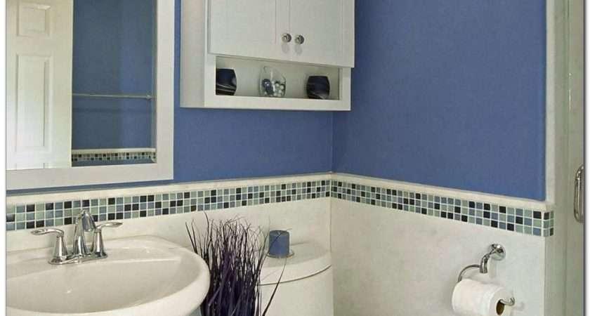 Simple Blue White Bathroom Decor Small Space