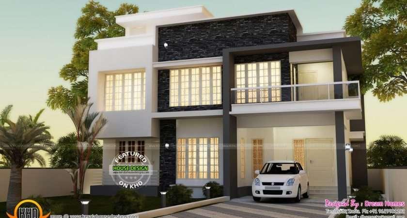 Simple Contemporary House Plan Kerala Home Design