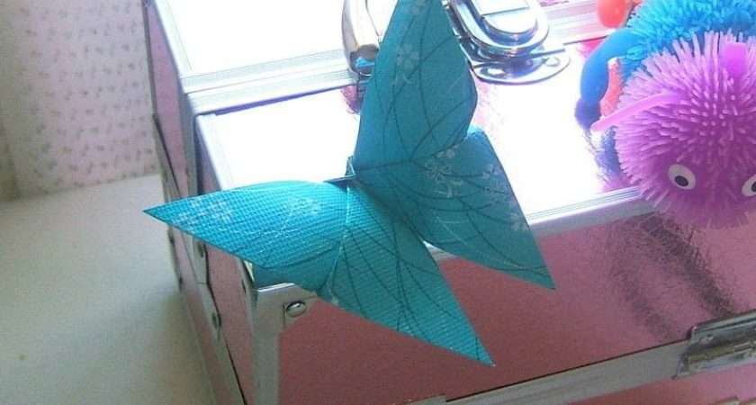 Simple Origami Butterfly Fold Animal Art