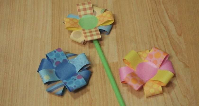 Simple Paper Flowers Make Bouquet Decorating
