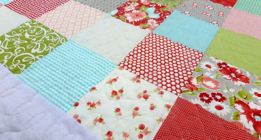 Simple Patchwork Baby Quilt Finish