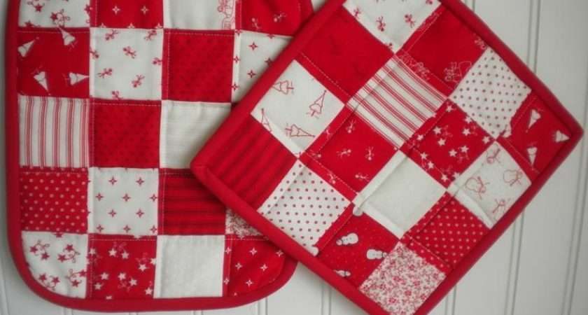 Simple Patchwork Potholders Sherriquilts Craftsy