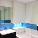Simply Splashbacks Blue White Tub Surround