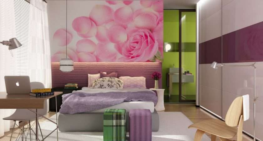 Single Bedroom Design Damask Teen Girls Ideas