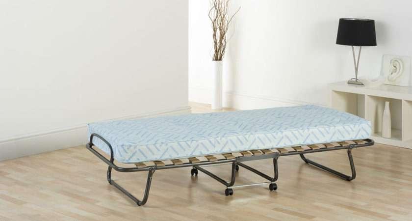 Single Folding Guest Bed Sprung Interior Mattress Dust