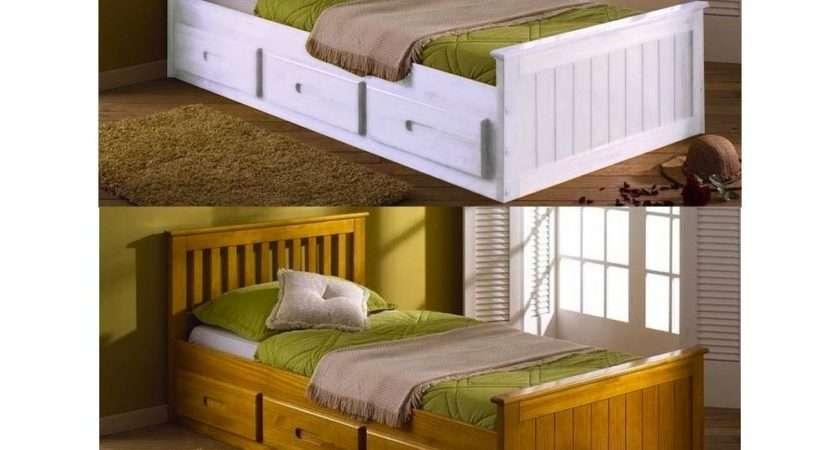 Single Mission Storage Drawers Childrens Kids Bed