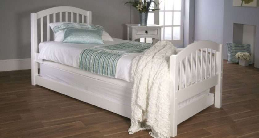 Single White Wooden Bed Guest Frame Limelight Beds