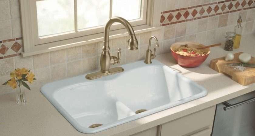 Sinks Ceramic Overmount Kitchen Sink Old