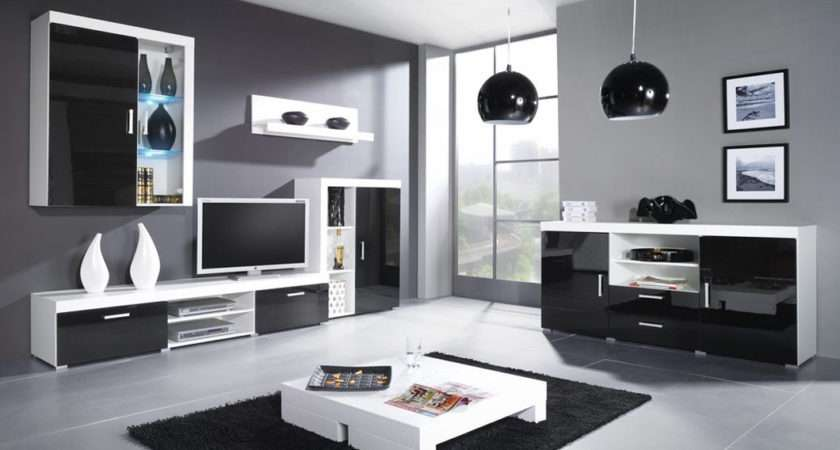 Sites Photos Living Black High Gloss Room Furniture