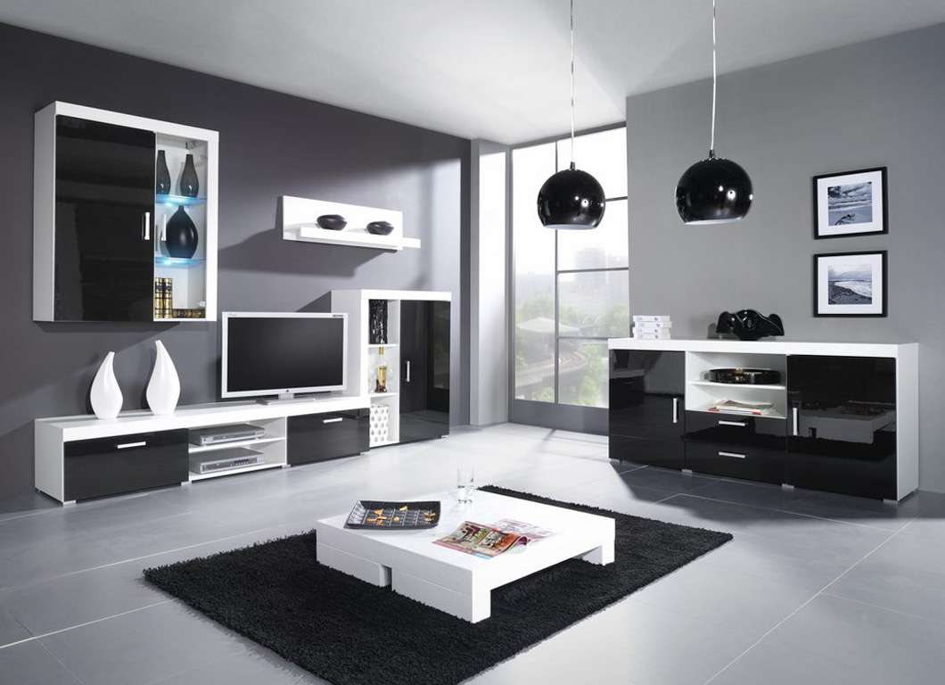 Sites Photos Living Black High Gloss Room Furniture