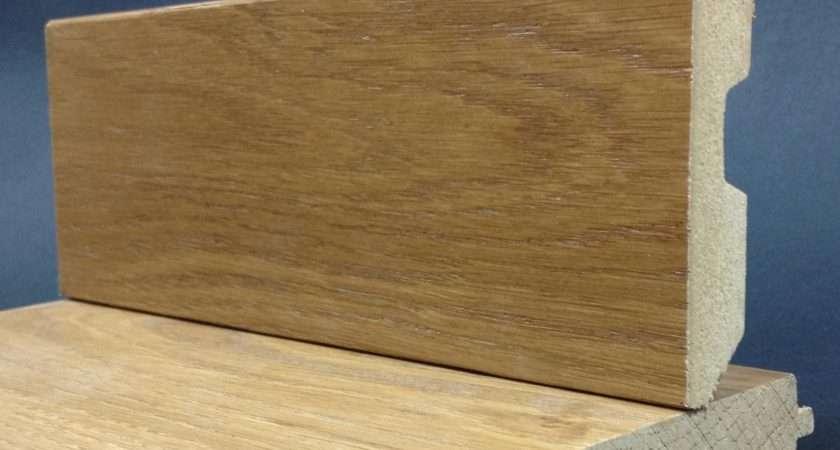 Skirting Board Wood Effect Coloured Veneer Oak