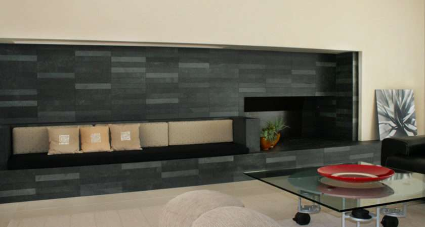 Slate Takes Modern Turn Alpentile Glass Tile Pools Spas