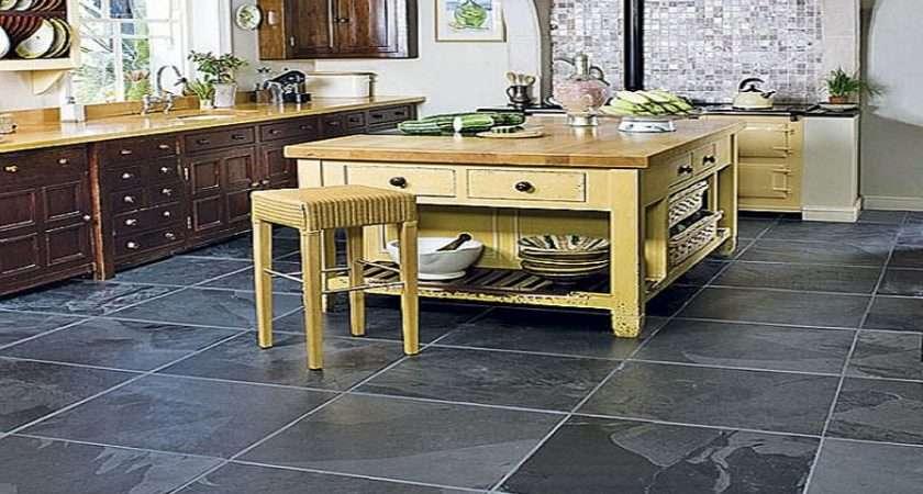 Slate Tile Kitchen Flooring