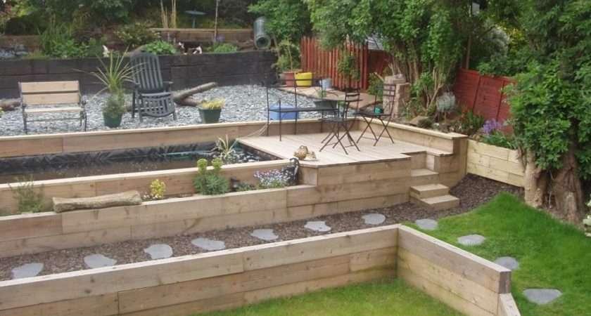 Sleepers Garden Landscape Back Ideas Borders