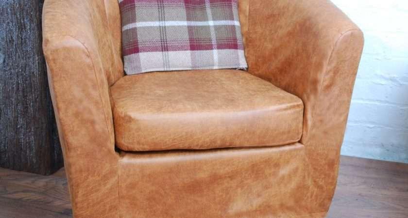 Slip Cover Ikea Ektorp Tullsta Tub Chair Distressed
