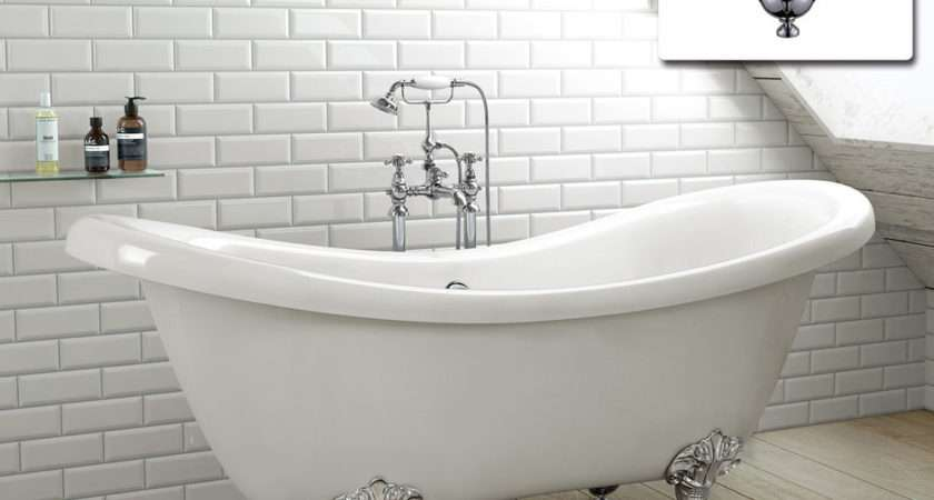 Slipper Traditional Freestanding Roll Top Bath Tub