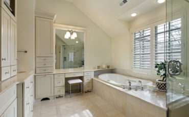 Sloped Ceiling White Bathroom Window Above Tub Extensive Built