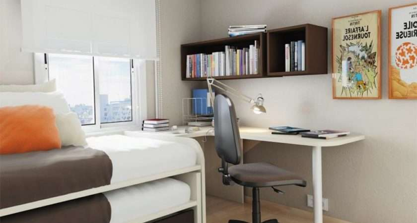 Small Bedroom Desks Narrow Space Homesfeed