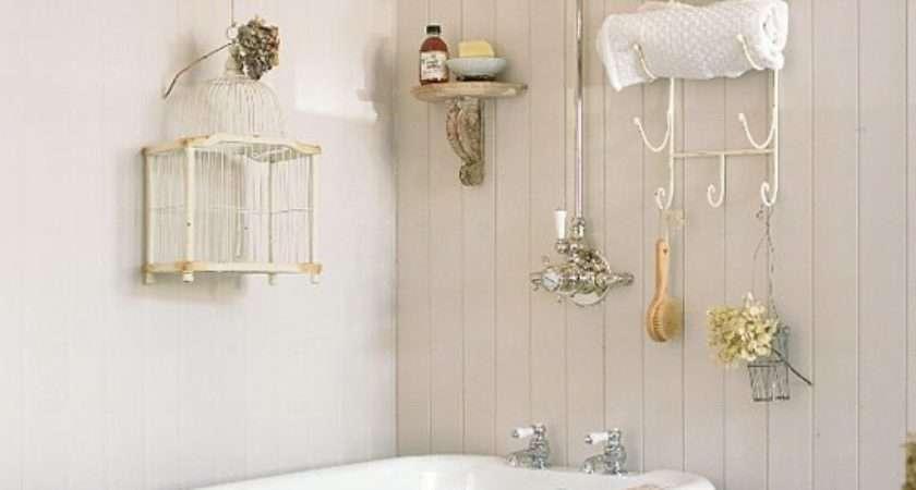 Small Cream Panelled Bathroom Birdcage