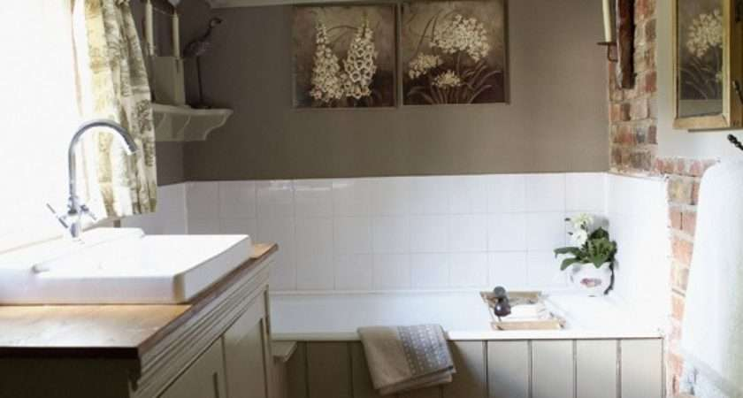 Small French Country Bathroom