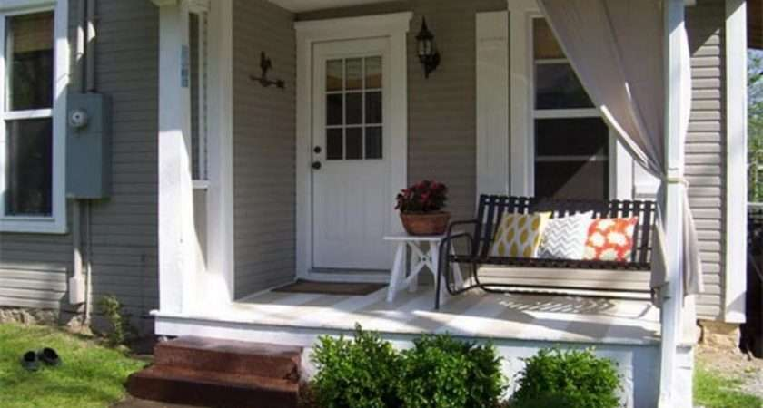 Small Front Porch Ideas Design Comfort Pillows Then Chair