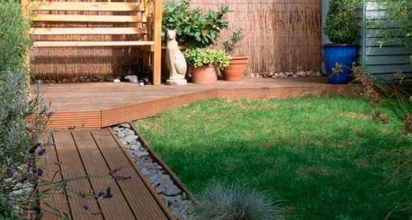 Small Garden Decked Path Design Ideas