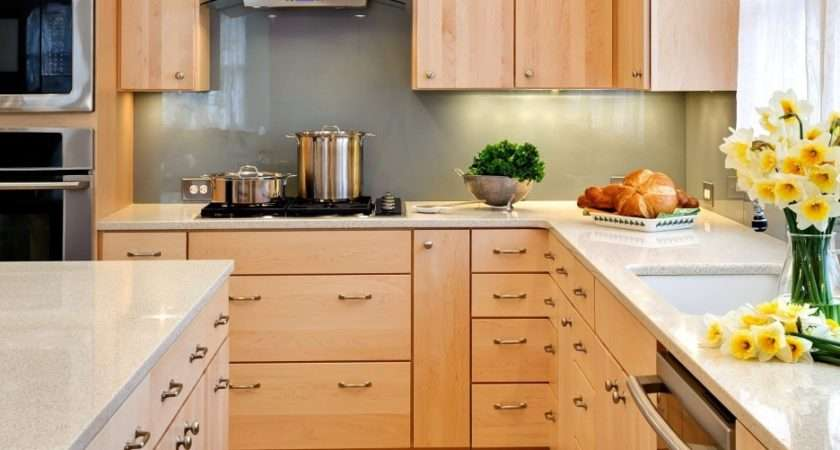 Small Kitchen Maple Cabinets Mixed White Stainless