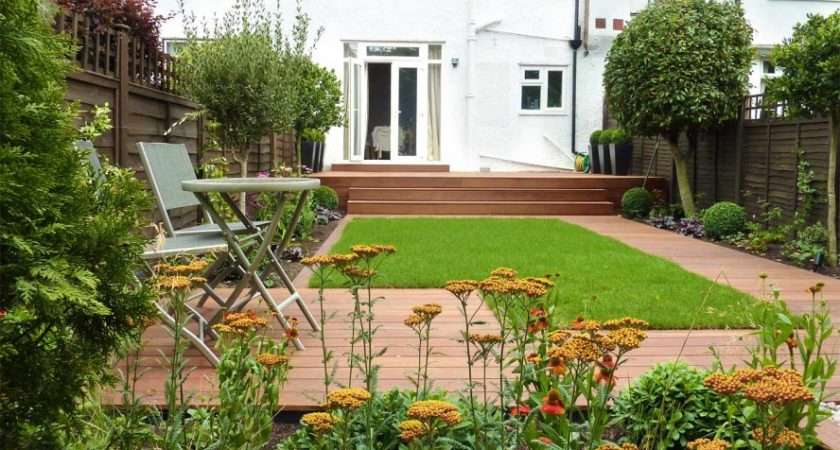 Small Lawn Deck Gardening Terrace Design Decks Garden Stepinit