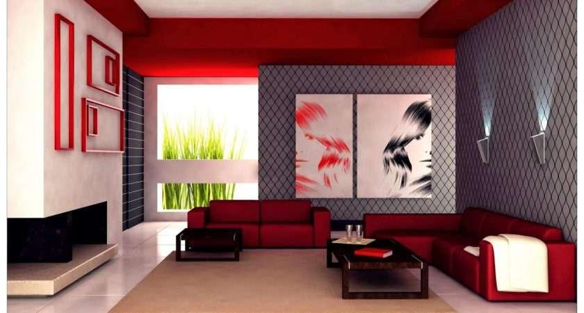 Small Living Room Design Ideas Taking Grey Red Interior Scheme