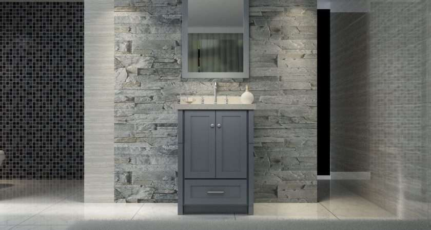 Small Modern Gray Bathroom Ideas Cool Home