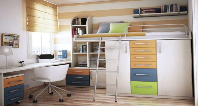 Small Rooms Furniture Kids Room Fancy Bunk Bed Storage