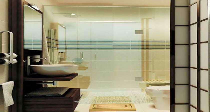 Small Spaces Wooden Mat Modern Bathroom Ideas