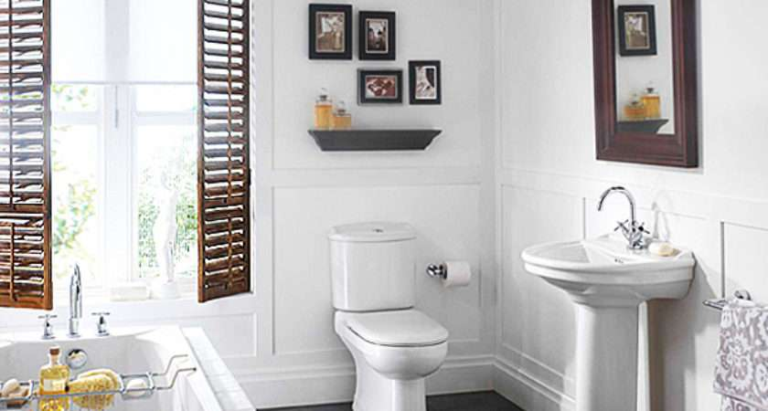 Small White Colored Bathrooms Get Huge Functions