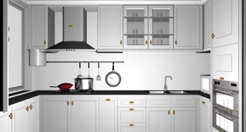 Small White Kitchen Design Model Dsmax Files