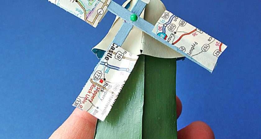 Small World Land Tiny Paper Windmill