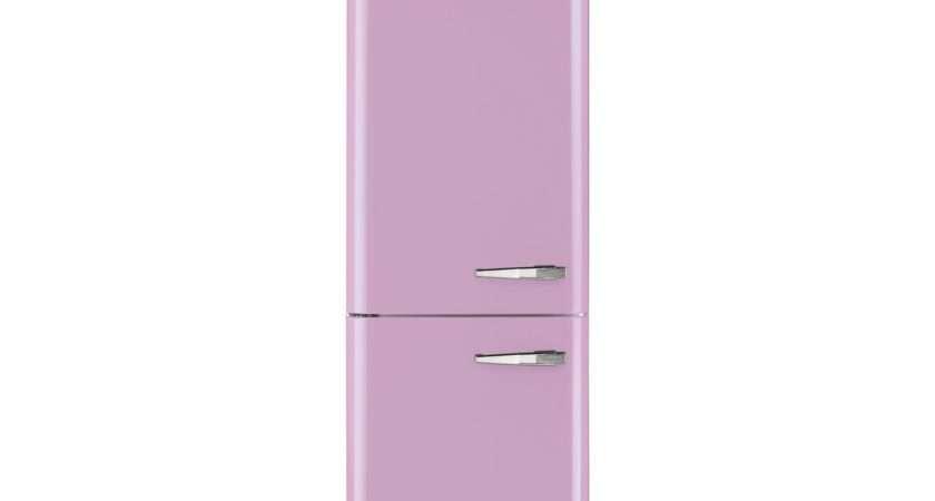 Smeg Fab Lfp Fridge Freezer Retro Style Left Hand Hinged Pink