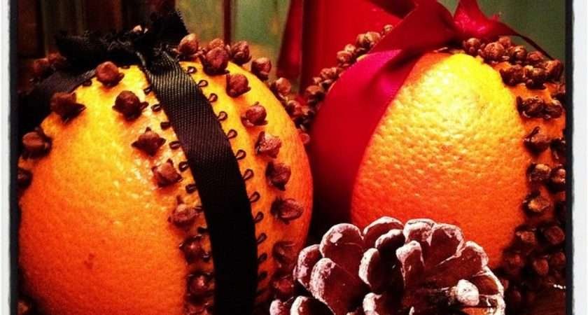 Smell Holiday Decorations Diy Orange Clove