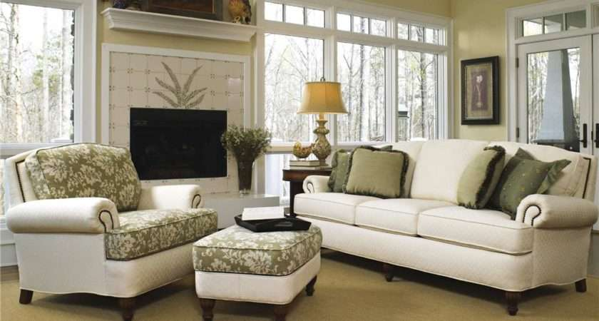 Smith Brothers Living Room Three Cushion Sofa Art Sample Home
