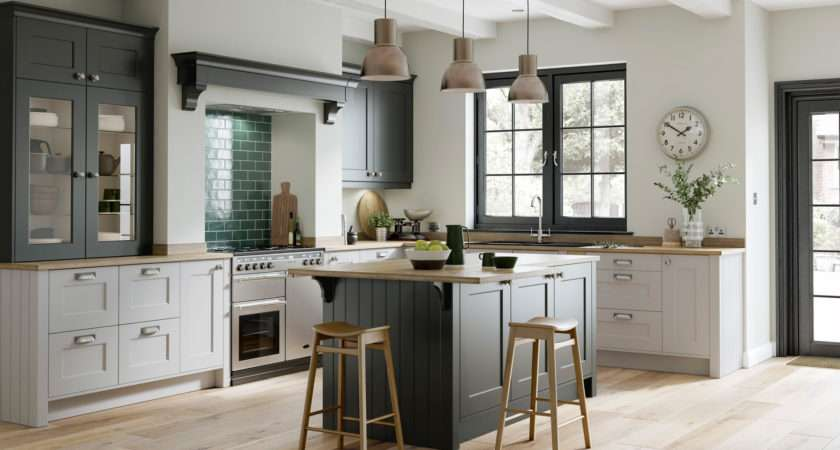 Smooth Painted Shaker Doors Florence Graphite Light Grey