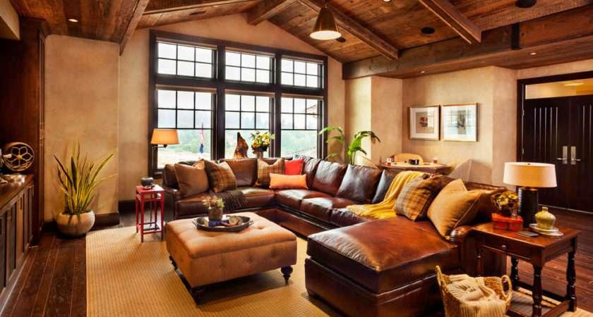 Sofa Decorating Ideas Room Rustic Design