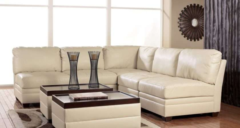 Sofas Decorating Ideas Featuring White Leather Cushioning