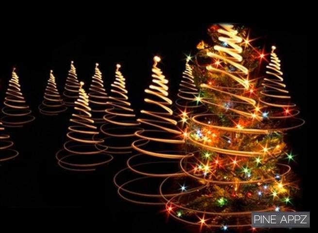 Solar Powered Led Christmas Tree Fairy Lights Off