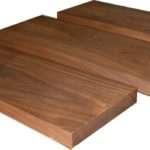 Solid American Black Walnut Floating Shelf Thick